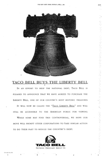 Taco Liberty Bell April Fools joke by Taco Bell