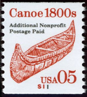 Transportation coils - Canoe, 5 cents, plate number S11