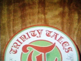 Trinity Tales - Credit sequence segueing from medieval illustration to pub beer-mat