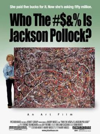 Who the $&% Is Jackson Pollock? - Promotional movie poster for the film