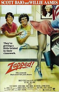 <i>Zapped!</i> 1982 teen film sex comedy by Robert J. Rosenthal
