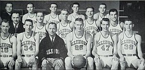 1953–54 Illinois Fighting Illini men's basketball team - Image: 1953–54 Illinois Fighting Illini men's basketball team