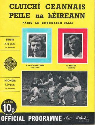 1974 All-Ireland Senior Football Championship Final - Image: 1974 All Ireland Senior Football Championship Final programme