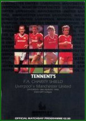 1990 FA Charity Shield - The match programme cover