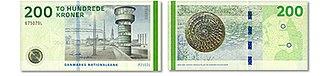 Banknotes of Denmark, 2009 series - Image: 200kroner 2009