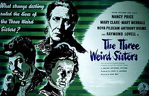The Three Weird Sisters - UK release poster