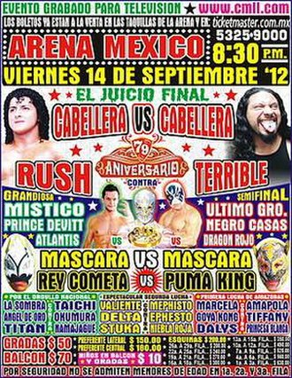 CMLL 79th Anniversary Show - Official poster for the event
