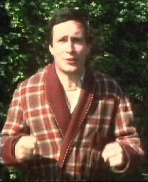The Hitchhiker's Guide to the Galaxy (TV series) - Simon Jones as Arthur Dent, watching his home being demolished in the first television episode.