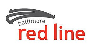 Red Line (Baltimore) - Image: Baltimore Red Line Logo Red