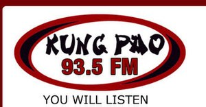 "CIGM-FM - Logo used during the ""Kung Pao 93.5"" stunting in August 2009."