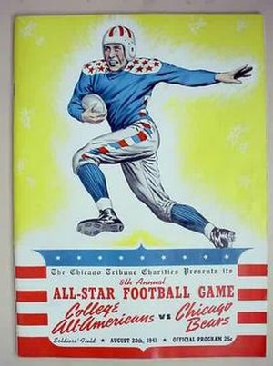 Chicago College All-Star Game - Program cover for 1941 game