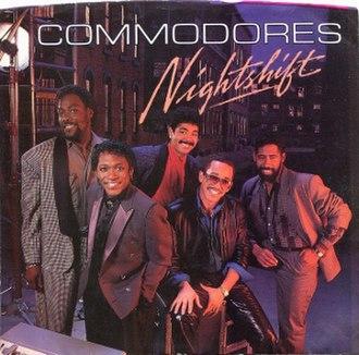 Nightshift (song) - Image: Commodores nightshift 1984 US artwork