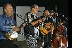 The Country Gentlemen - Country Gentlemen reunion at Woodstock '92. L-R: Eddie Adcock, John Duffey, Charlie Waller, Tom Gray