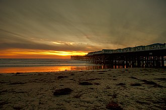 Pacific Beach, San Diego - The Crystal Pier at sunset