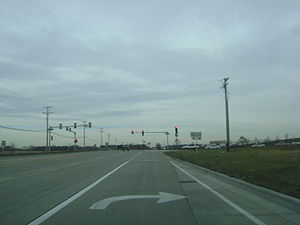 Illinois Route 120 - The western terminus of IL 60 in Volo, shortly before reverting to two lanes.