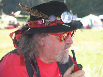 E Clampus Vitus - Chairman Moe of the Salt of the Scum of the Earth models an upright yet casual ECV look of red and black.