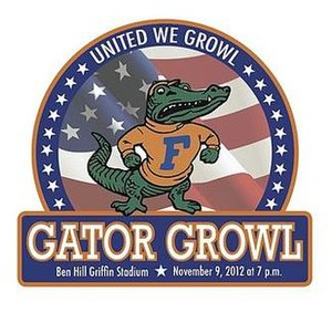 Gator Growl - The logo for Gator Growl 2012