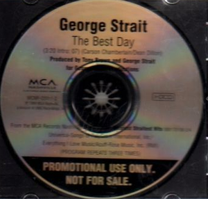 The Best Day (song) - Image: George Strait The Best Day cd single