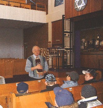 Giffnock Synagogue - Boys aged 11-12, learning about Judaism at the Giffnock and Newlands Synagogue
