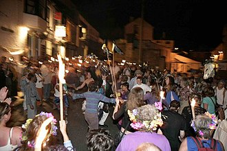 Golowan Festival - The fire celebration and serpent dance at the revived Golowan Festival