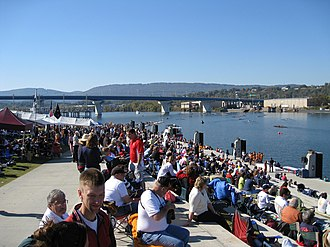 Head of the Hooch - Overlooking the grandstand and finish area at the 2008 Head of the Hooch