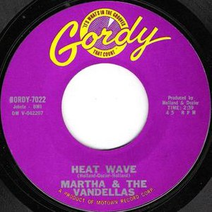 Heat Wave (Martha and the Vandellas song) - Image: Heat Wave by Martha and the Vandellas