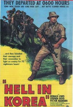 A Hill in Korea - Original American film poster
