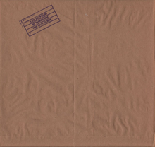 One of paper bag sleeve variants for original vinyl release, whose stamped logo was also used as part of front cover for original tape releases