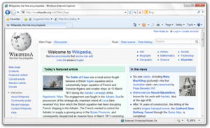 Internet Explorer 8 Beta 2 using upon Windows ...