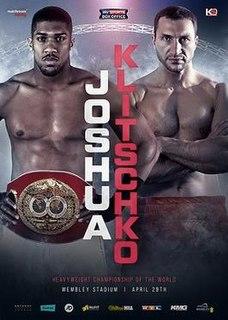 Anthony Joshua vs. Wladimir Klitschko 2017 boxing match