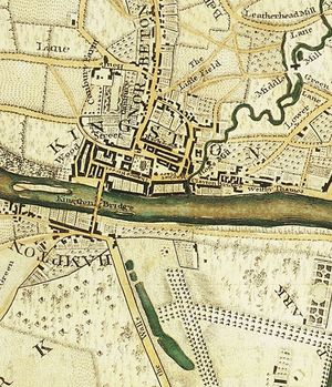 Clattern Bridge - It is shown as the Clayton Bridge on a map of John Roque from around 1761.
