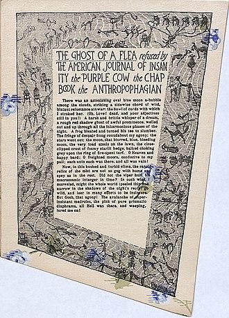 """Le Petit Journal des Refusées - """"The Ghost of a Flea"""" from Le Petit Journal des Refusées, 1896."""