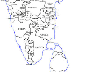 Sangam period - Political map of South India, 210 B.C.E.