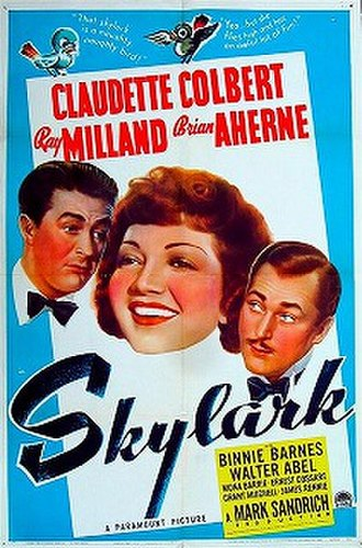 Skylark (1941 film) - Original poster