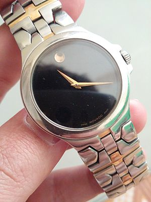 Movado - Movado Delphino Series, two-tone black dial-face
