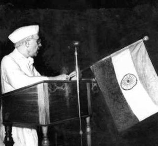 Tryst with Destiny speech delivered by Jawaharlal Nehru