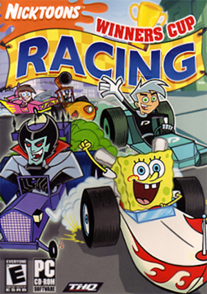 Nicktoons Winners Cup Racing - Artwork of the game released only in North America.