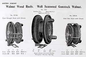 Fishing reel - 'Nottingham' and 'Scarborough' reel designs.