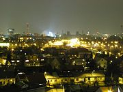 Night view from Hrabůvka towards Vítkovice and the city centre