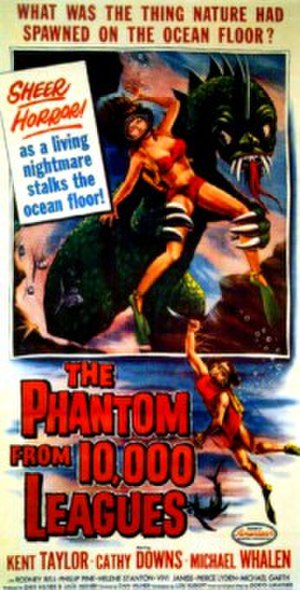The Phantom from 10,000 Leagues - Theatrical release poster by Albert Kallis