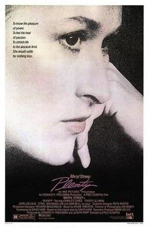 Plenty (film) - Theatrical release poster