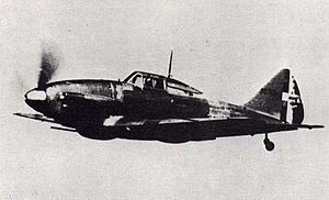 Reggiane Re.2001 - wartime photograph of a Re.2001 in flight c. 1943