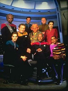 A photo of the Star Trek: Deep Space Nine season five characters in costume