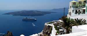 The island of Santorini in Greece is a popular...