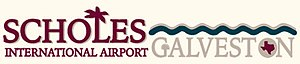 Scholes International Airport at Galveston - Image: Scholes International Airport at Galveston logo