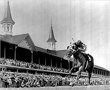 Secretariat in 1973 Kentucky Derby.jpg