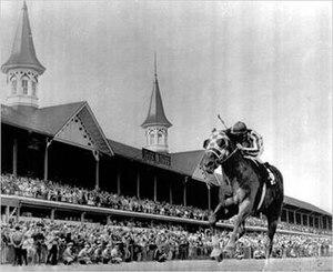 1973 Kentucky Derby - Secretariat crossing the finish line
