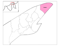 Location of Serasa in Brunei-Muara District, Brunei