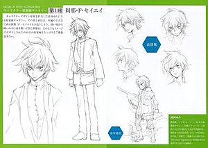 Mobile Suit Gundam 00 - Character designs for Setsuna F. Seiei by Yun Kōga