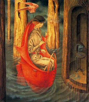 Women Surrealists - Remedios Varo, Exploration of the Source of the Orinoco River, 1959.